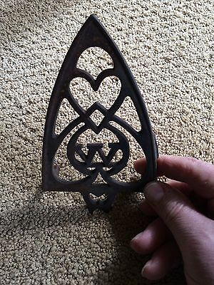 Antique Clothes Iron rest, Heart &  W  made into the design.
