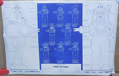 Robby The Robot Schematics Poster Forbidden Planet Lost In Space Twilight Zone