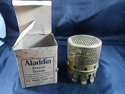 ALADDIN  LAMP INSECT SCREEN  Brass    Vintage with box