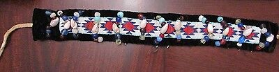 Antique Native American Head Dress w. trade beads ,remnants of bird quill on top