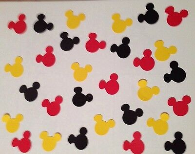 Mickey Mouse Disney Paper Punchies Die Cuts Handmade Confetti Card Art Cardstock