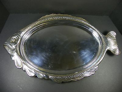 Vintage Wm A Rogers Silver Plated Fish Platter Tray