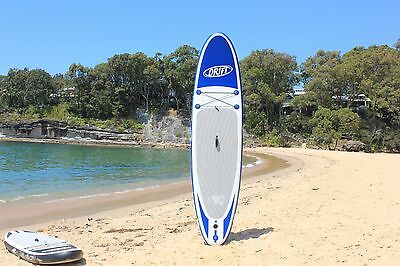 SUP Inflatable Stand Up Paddle Board + bag + pump + leash + paddle Blue 10ft6in