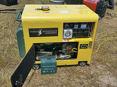 generator 6KVA Genpower Diesel. Auto transfer switch. 3 phase and 3 x 15 Amp out