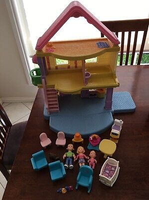 Fisher Price My First Dollshouse With Extra Baby's room set