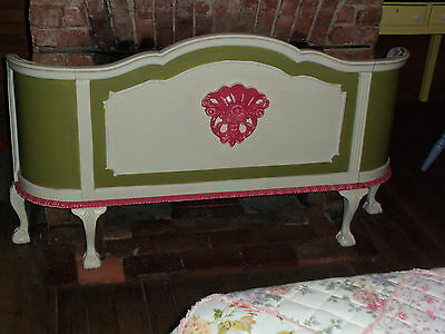 Antique Ornate Curved Style Footboard - Full Size