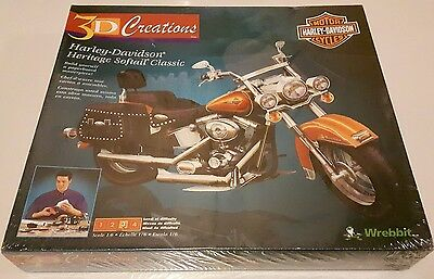 Harley Davidson Motorcycle 3D Puzzle *New Sealed in Plastic*