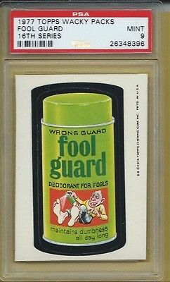Wacky Packages Series 16 Fool Guard Psa 9 Mint Rare None Higher