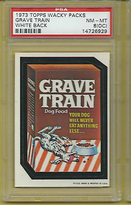 Wacky Packages Series 1 Grave Train Psa 8 Oc