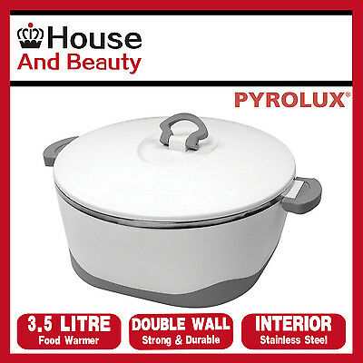 Pyrotherm by Pyrolux Double Wall Food Warmer/Hot Pot 3.5 Litre, S/Steel Interior