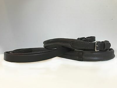 Leather reins- soft, padded napa leather (NEW)
