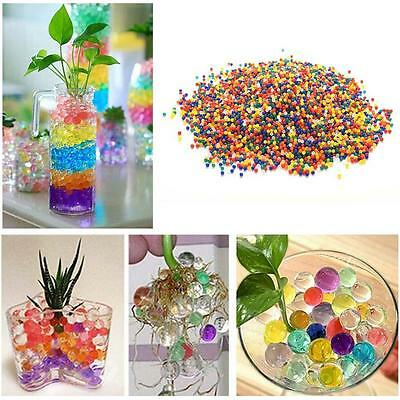 1000pcs Water Flower Jelly Crystal Soil Mud Water Pearls Gel Beads Ball Color CB