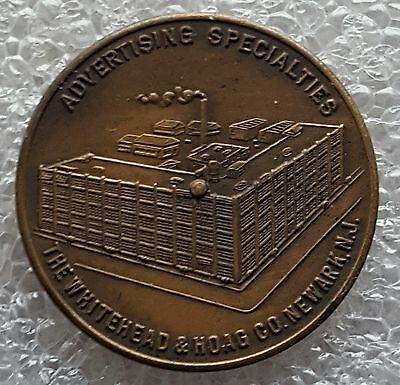 Whitehead & Hoag - Newark - New Jersey - Metal Spinner Coin - You Pay