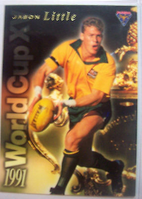1991 Futera World Cup XV Rugby Union Jason Little Australia