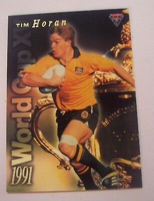 1991 Futera World Cup XV Rugby Union Tim Horan Australia