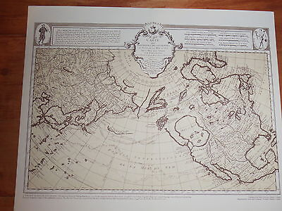 1750 Map WORLD by Phillipe Buache Voyage into the Pacific Northwest