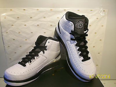NIKE AIR JORDAN 2 RETRO GS II WING IT WHITE BLACK GREY 834283 103 SIZE 4 y