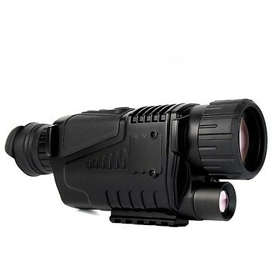 "Asika 5x40 Digital Monocular Night Vision 1.5""LCD Zoom Scope Video Playback Hot"