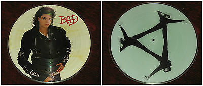 MICHAEL JACKSON ~ Bad ~ VINYL LP - ORIGINAL 1987 PICTURE DISC USA PRESSING