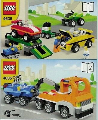 LEGO Instruction Manual ONLY - Fun with Vehicles - Set #4635 - NEW!