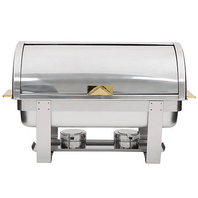 Choice Roll Top Chafer Buffet 8 Quart Stainless Steel Restaurant Commercial Dish