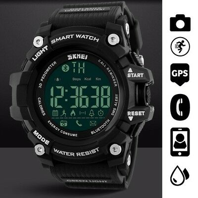 Waterproof Sport Bluetooth Smart Watch Phone Mate For Android IOS iPhone Samsung