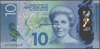 New Zealand,10 Dollars,2015 ,Uncirculated,Polymer@ EBS