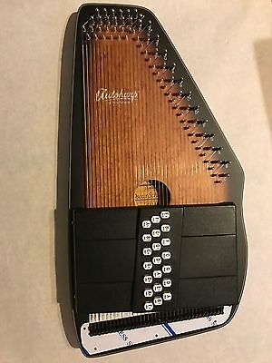 Oscar Schmidt Model OS11021 Solid Spruce Back Ozark Autoharp - Satin Brown