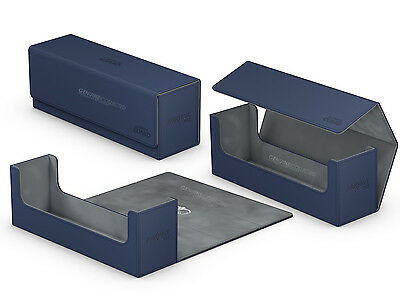 400 Blue Ultimate Guard Arkhive Flip Case Deck Box Tray Xenoskin | Card storage