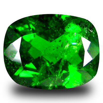 2.22 ct  Remarkable Cushion Shape (9 x 7 mm) Green Chrome Diopside Gemstone
