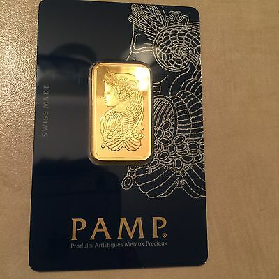 1 Excellent Condition20 Grams PAMP Gold Bar In Assay.Free Shipping!