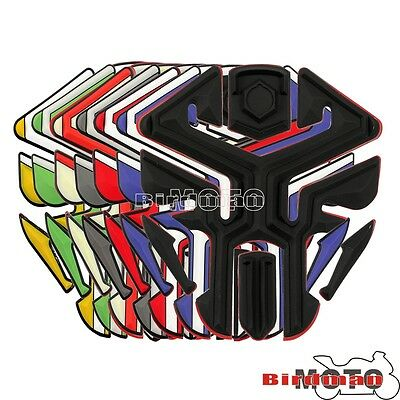 Motorcycle 3D Rubber Oil Tank Pad Rubber Fuel Gas Protector Sticker Universal