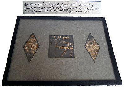 Contact print display by Arthur L. Flagg (1905), antique mineral art