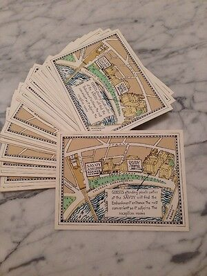 The Savoy Hotel London - 1970s Direction Cards (Pack Of 65)