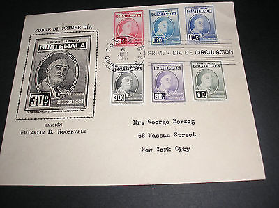 Guatemala 1947  airmail cover superb franking