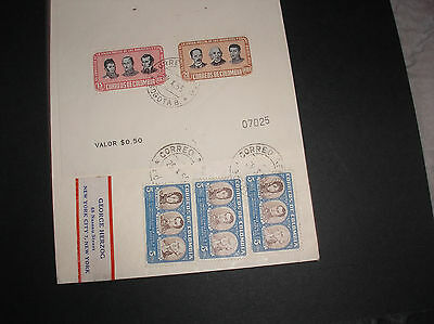 Colombia 1955  airmail cover superb franking miniature sheet