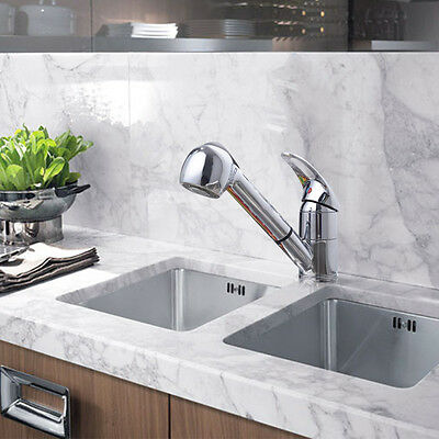 Pull Out Spray Head Single Lever Swivel Spout Kitchen Faucet Sink Mixer Tap OHY