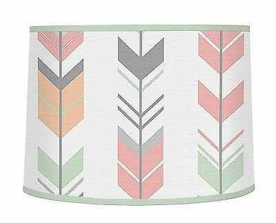 Sweet Jojo Designs Grey, Coral and Mint Woodland Arrow Girl Baby Childrens Lamp