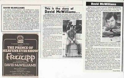 DAVID McWILLIAMS : CUTTINGS COLLECTION