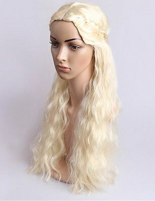 Daenerys Targaryen Dragon Princess Game of Thrones Braids Costume Cosplay Wig