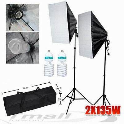 1350W Photography Easy Softbox Studio Continuous Lighting Video Stand Kit Case
