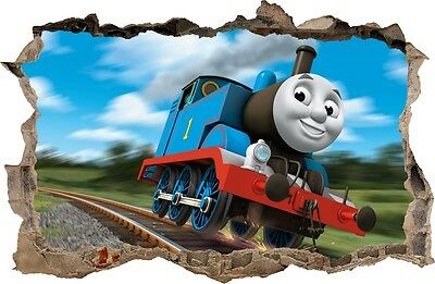 WALL STICKERS HOLE IN THE WALL 3D TRAIN THOMAS decorative sticker to the room 67