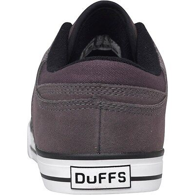 Duffs Mens Skate Shoes Charcoal/Black Trainers size 8