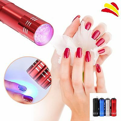 Mini Lampara Linterna Uv 9 Leds Secador Uñas Gel Ultravioleta 4 Colores