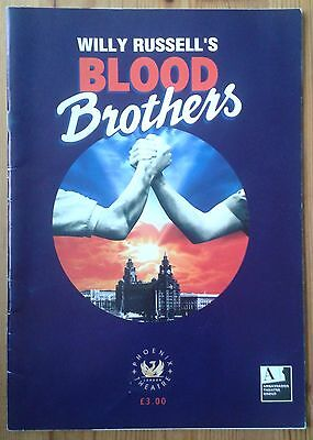 Blood Brothers programme Phoenix Theatre ~late 2003 Lyn Paul Philip Stewart
