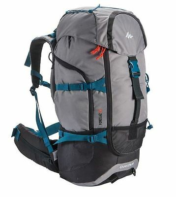 Quechua Camping Backpack Hiking Bag Outdoor Travel Rucksack Waterproof 50L Pack