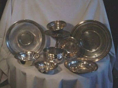 Sterling Silver .925 Scrap or Not- Plates, Bowls Most NOT WEIGHTED 1075 Grams