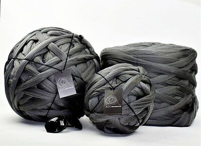 1kg NEW Mid Grey Mammoth Giant Chunky Extreme Arm Knitting Yarn Big Super Loop