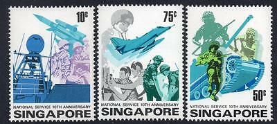 SINGAPORE MNH 1977 SG286-88 10th Anniversary of National Service