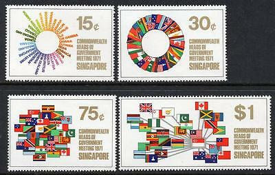 SINGAPORE MNH 1971 SG146-9 Commonwealth Heads of Government Meeting